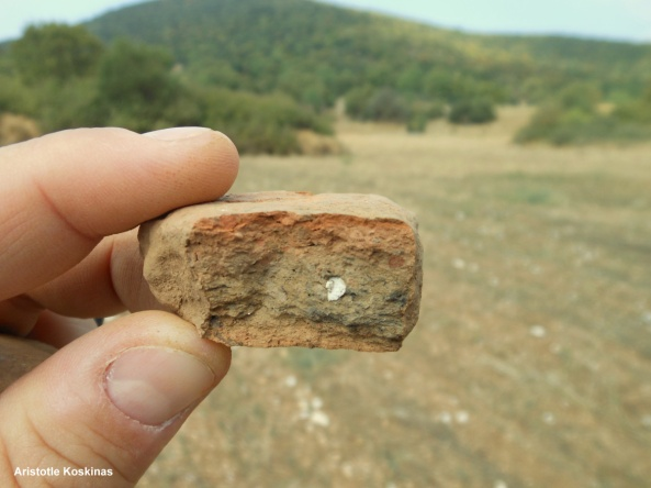 roof tile found on Epirus survey